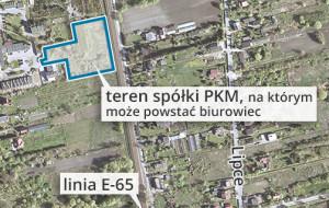 Przymiarki do budowy biurowca na terenie PKM