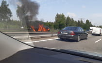 Pożar auta na obwodnicy między Osową a...