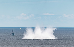 Mina zdetonowana w Zatoce Gdańskiej. Niewielka eksplozja