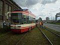 Wykolejony tramwaj na Jana z Kolna