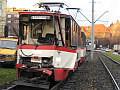 Poranne zderzenie tramwajów