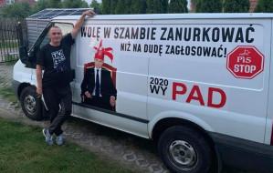 Zatrzymany za hasła przeciwko prezydentowi Andrzejowi Dudzie