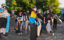 Manifestacja środowiska LGBT na Targu...