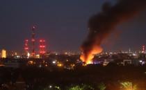 Nocny pożar pustostanu we Wrzeszczu
