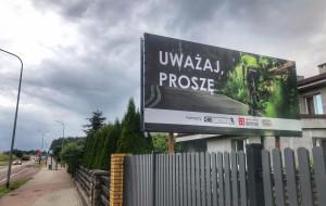 Uważaj, proszę. Rowerowe billboardy przy ulicach Trójmiasta