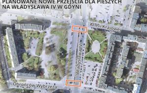 Gdynia: będą nowe przejścia dla pieszych na Władysława IV