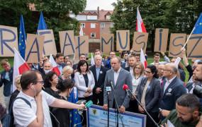 W Gdańsku podsumowano kampanię Trzaskowskiego