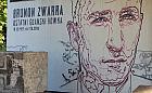 Mural z Brunonem Zwarrą na wiadukcie PKM