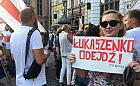 """Protest """"Solidarni z Białorusią"""" w Gdańsku"""