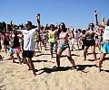 Maraton zumby zawładnął plażą w Brzeźnie