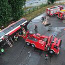 Widowiskowe ćwiczenia strażaków w Gdańsku