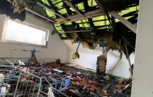 Pożar zniszczył ich dom. Mieszkają na 12 metrach z psami