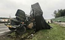 Wypadek wojskowej ciężarówki i tira na...