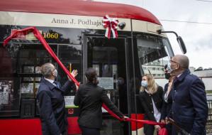 Prof. Podhajska została patronką tramwaju