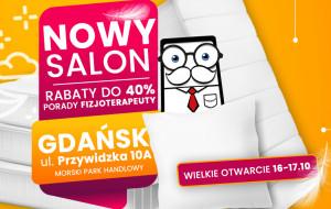 Promocje na otwarcie salonu Pan Materac w Gdańsku