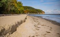 Sztorm zabrał część plaży w Orłowie