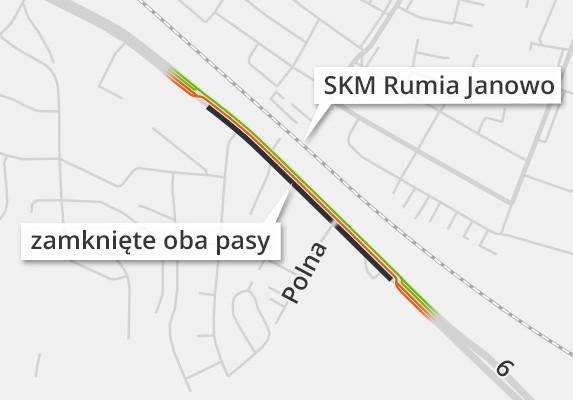 Większe utrudnienia na DK6 do Gdyni