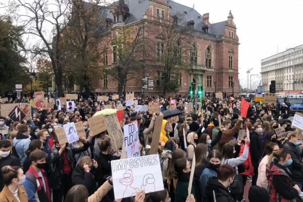 Siódmy dzień protestów w Trójmieście w sprawie aborcji