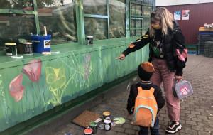 W Oliwie powstał mural wymyślony przez przedszkolaków
