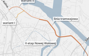 Kolejny etap Nowej Wałowej: tramwaj i jedna jezdnia