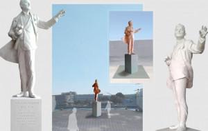 Pomnik Tadeusza Wendy stanie w Gdyni w kwietniu