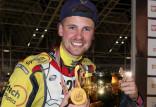 Lukas Fienhage, mistrz świata na długim torze żużlowcem Zdunek Wybrzeże Gdańsk