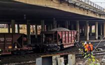 Wykolejenie wagonów pociągu technicznego w...