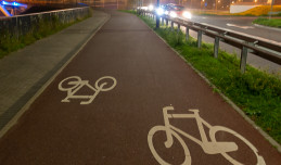 Nowa droga rowerowa i dojście do przystanku PKM Gdańsk Kiełpinek