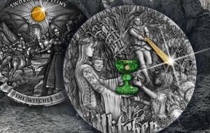 Kolejne monety z Wiedźminem wybite w Gdańsku