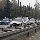 Taksówkarze protestowali na ulicach Gdańska