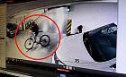 Kolejny złodziej rowerów zarejestrowany przez kamery