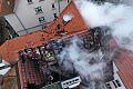 Poranny pożar w kamienicy przy al. Niepodległości w Sopocie