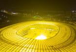 Stadion w Gdańsku świeci mocniej niż zwykle