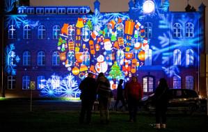 Świąteczne iluminacje na terenie Stoczni Cesarskiej