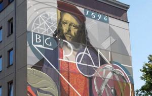Mural na 425-lecie istnienia Biblioteki Gdańskiej PAN