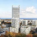 120-metrowa wieża mieszkaniowa obok węzła Franciszki Cegielskiej w Gdyni