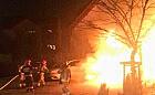 Kilka pożarów przez fajerwerki i wypadek pijanego kierowcy