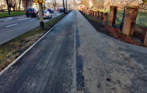 Gdynia-Orłowo. Wyremontowano drogę rowerową przy parku Kolibki