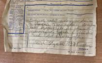 Telegram w butelce sprzed 50 lat...
