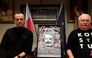Gdański artysta stworzył portret przestrzenny Lecha Wałęsy