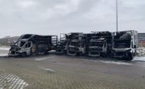 Pożar pięciu dostawczaków na parkingu przy...