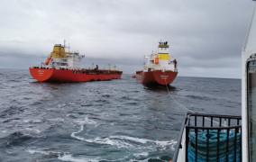 Przeładunek ropy ze złoża B8 na Bałtyku
