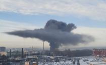 Pożar opon i hali na złomowcu w Letnicy