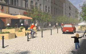 Starowiejska: nowy chodnik, stary bruk i lepsze oświetlenie