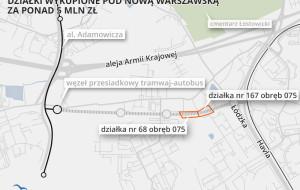 Prawie 6 mln zł dla właścicieli działek pod Nową Warszawską