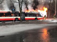 Gdańsk. Pożar autobusu miejskiego
