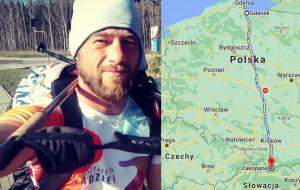 Judoka idzie z Gdańska do Zakopanego. Zbiera pieniądze dla hospicjum