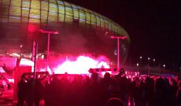 138 wniosków o ukaranie kibiców dopingujących pod stadionem