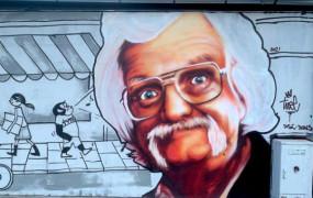 Czuwaj Papciu - mural Tuse w hołdzie dla Papcia Chmiela