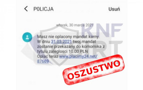 Nowe oszustwo: SMS z mandatem